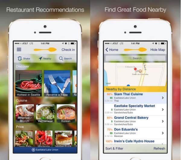 Find restaurants on your phone