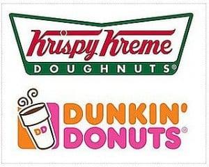 Dunkin Donuts Krispy Kreme