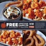 Free Appetizer Sampler From Applebee's on 7/21