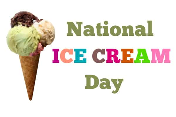 National Ice Cream Day 2015