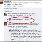 Replies on Facebook