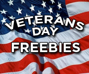 Veterans Day Free Meals