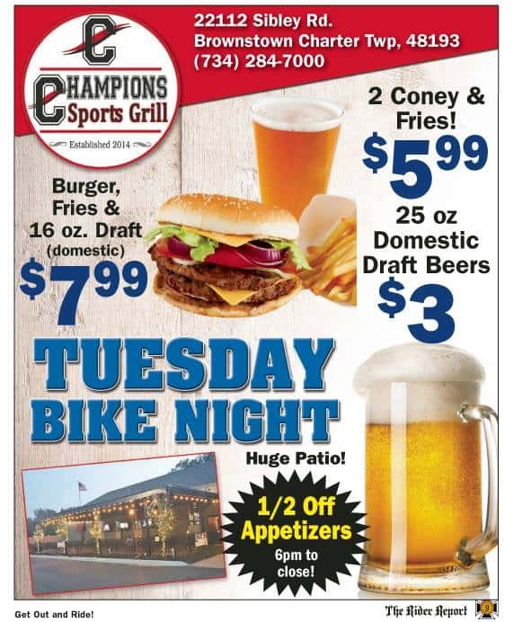 Champions Tuesday Bike Night
