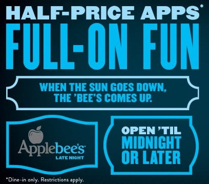 Applebee's half-priced appetizers