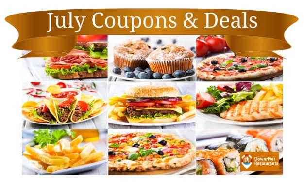 July Restaurant coupons and deals