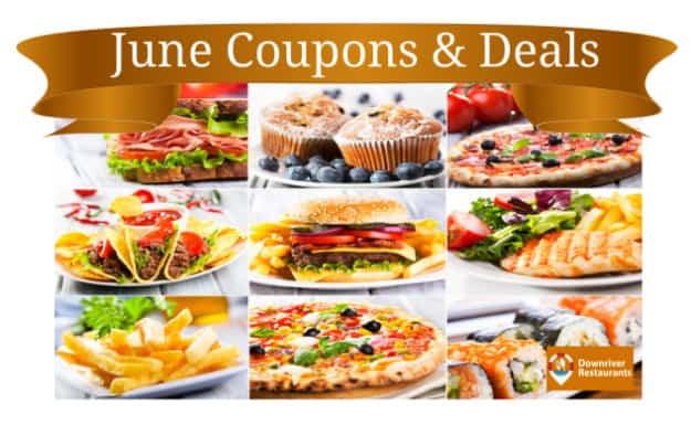 June Restaurant Coupons & Deals