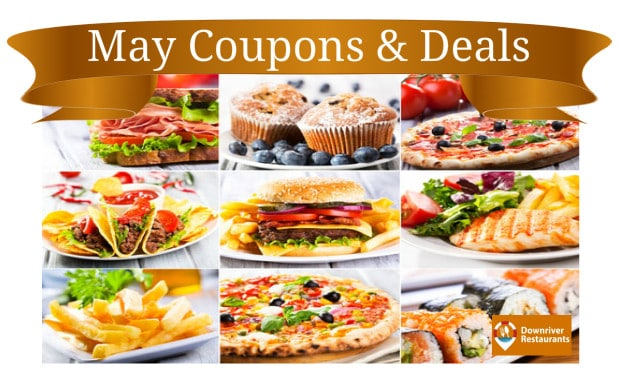 May Restaurant Coupons and Deals