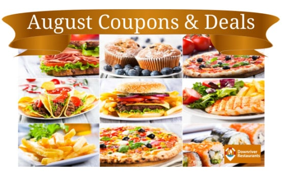 August 2016 restaurant coupons
