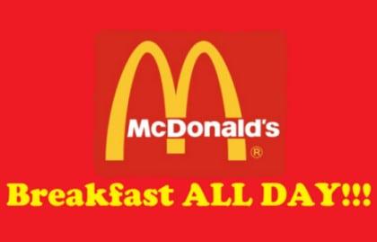 McDonald's Expands All Day Breakfast Menu