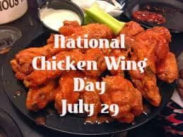 National chicken wing day july 29 2016