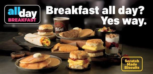 Breakfast all day at McDonald's