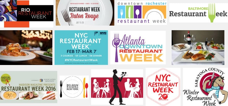 List of Restaurant Week Cities and Dates