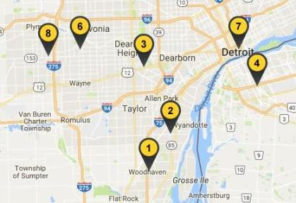 Buffalo Wild Wings locations downriver michigan