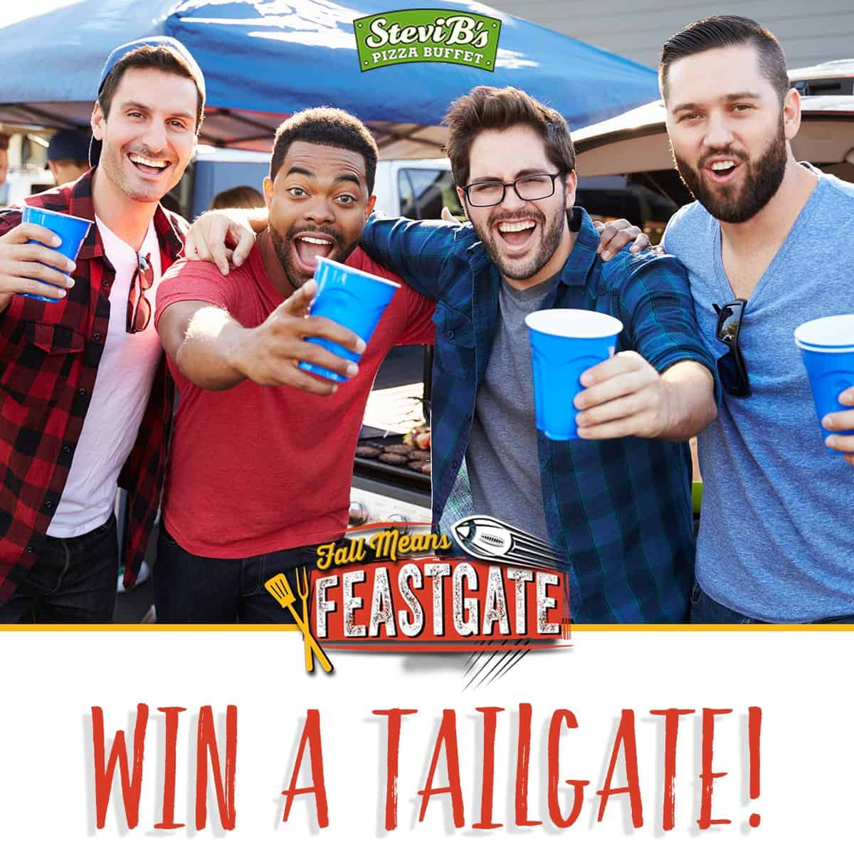 Stevi B's pizza win a tailgate party