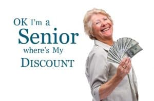 Ask for a senior discount at restaurants