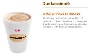 Dunkin Donuts Dunkaccino