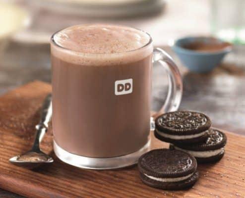 New Oreo Hot Chocolate at Dunkin Donuts