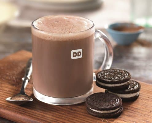 New Oreo Hot Chocolate at Dunkin Donuts