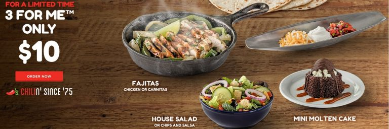 Chili's 3 for $10 deal