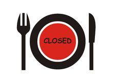 Closed Restaurant sign