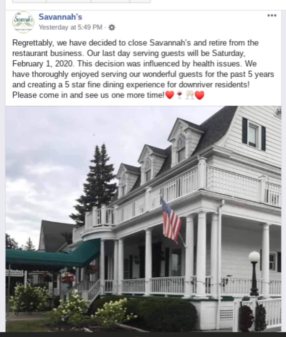 Savannahs-closure-facebook-announcement