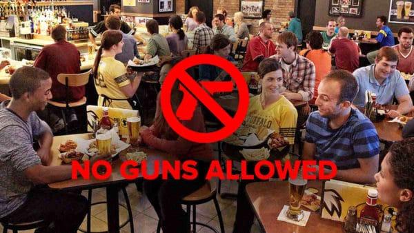 Buffalo Wild Wings No Guns Allowed