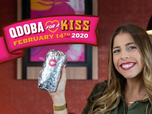 Buy-One-Get-One-Free-Entree-At-Qdoba-When-You-Share-A-Kiss