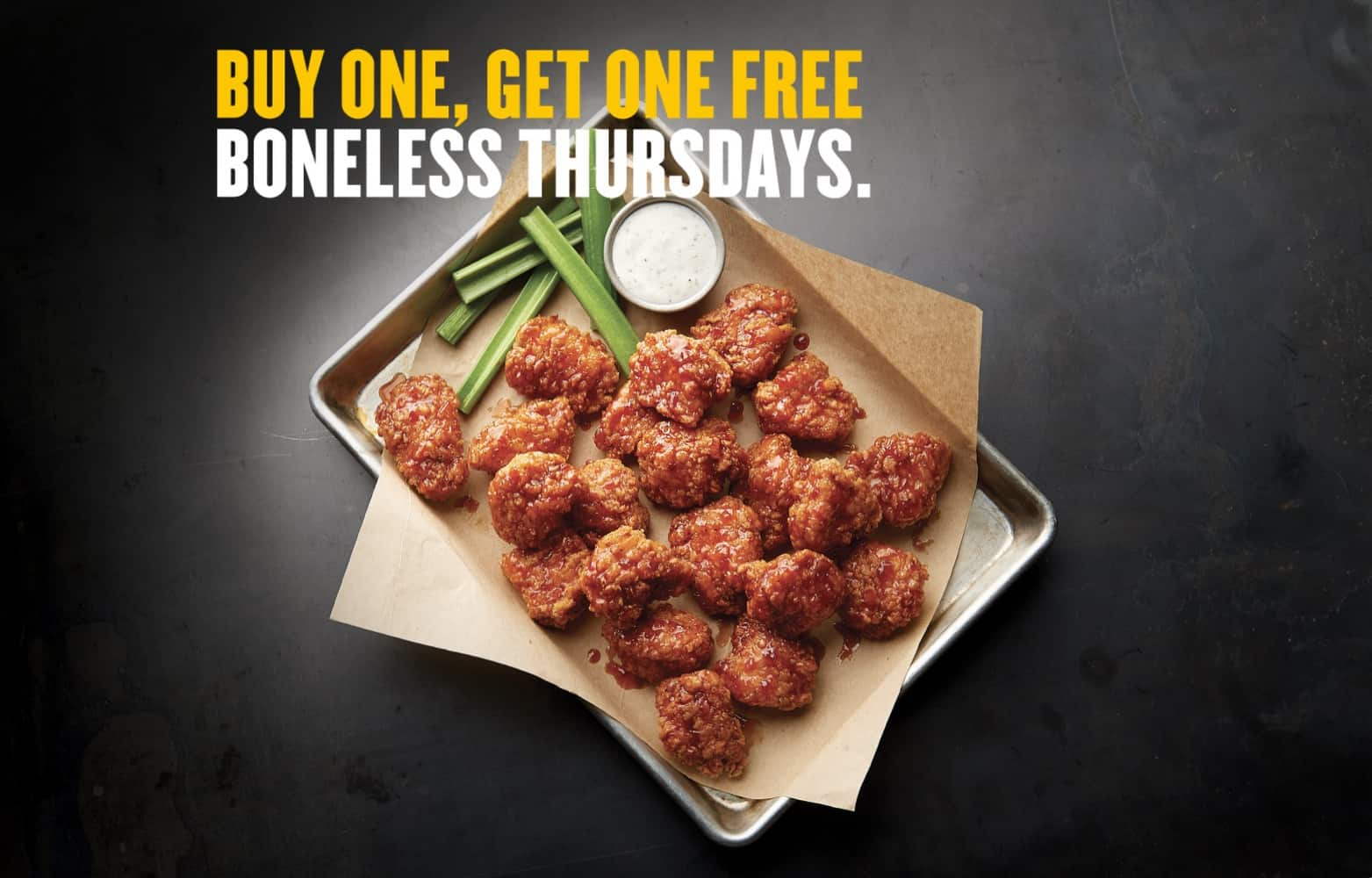 Boneless Thursdays at Buffalo Wild Wings