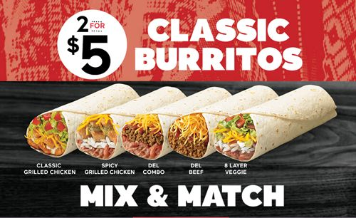 Del-Taco-Two-for-Five-Classic-Burrito-Deal