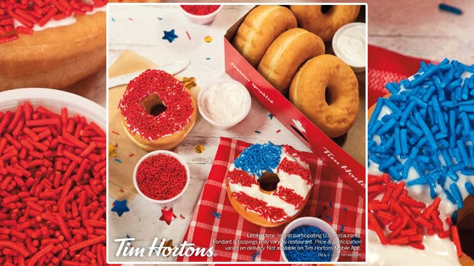 Tim-Hortons-Offers-New-Patriotic-DIY-Donut-Kit-Brings-Back-Independence-Day-Fireworks-Donut