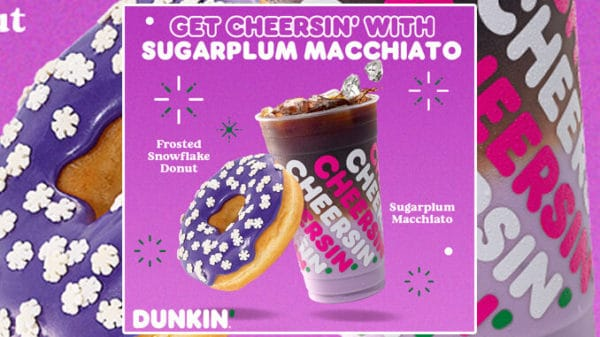 Dunkin-Launches-New-Sugarplum-Macchiato-And-New-Frosted-Snowflake-Donut